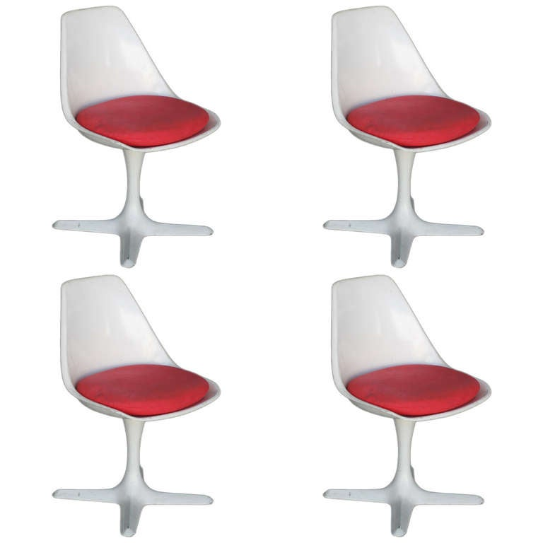Maurice Burke Designed Tulip Style Side Chair Set Of Four