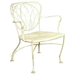 Woodard Outdoor/ Patio Armchairs with Art Nouveau Inspired Back
