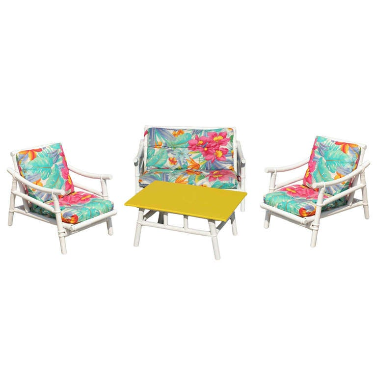 Complete childs rattan living room set at 1stdibs for Complete living room sets