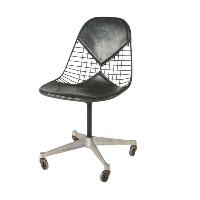 Mid Century Modern Herman Miller Pkcc 2 Wire Desk Chair For