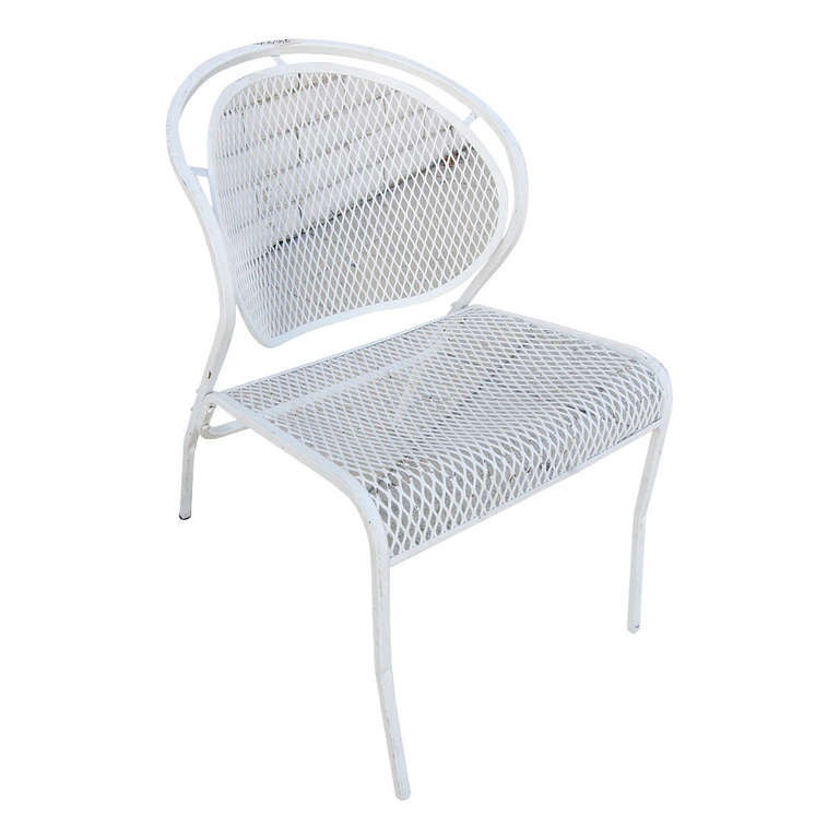 Tubular Steel Outdoor Wing Wingback Lounge chair at 1stdibs