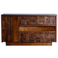 Lane Brutalist Dresser in the Style of Paul Evans