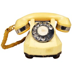 Catalin Mono-Phone Telephone with Chrome Accents