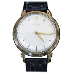 "Hamilton ""Sedgman"" 14k Wrist Watch"