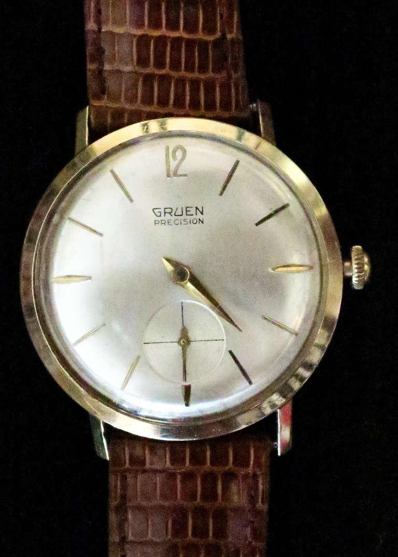 gruen precision 14k solid gold saturday sale