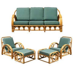 Circles and Speed Rattan Sofa and Lounge Chair Set