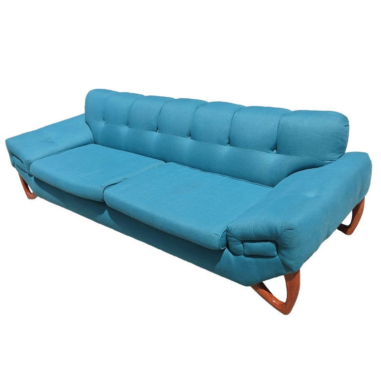 Mid-Century Modern Sofa in the Manner of Adrian Pearsall
