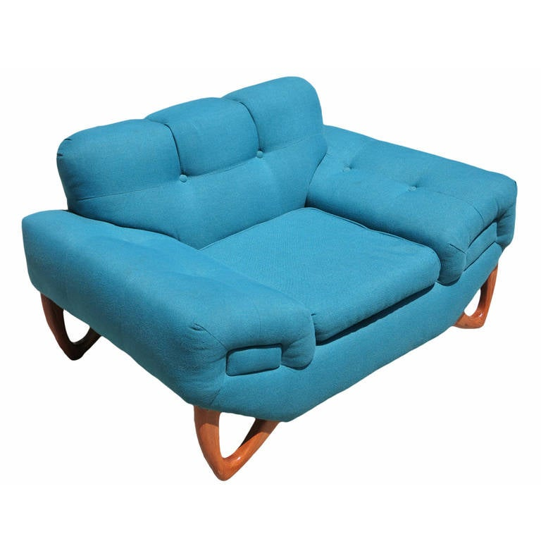 Mid-Century Modern Lounge Chair in Manner of Adrian Pearsall