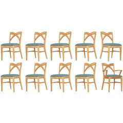 Paul Frankl Dining Chairs for Brown Saltman, Set of Ten **Saturday Sale**