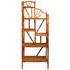Tiger Bamboo Five-Tier Corner Shelf