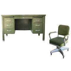 General Fireproofing Executive Tanker Desk with Task Chair