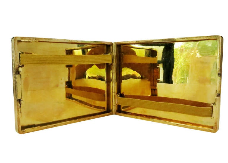 20th Century 18-Carat Gold Art Deco Cigarette Case For Sale