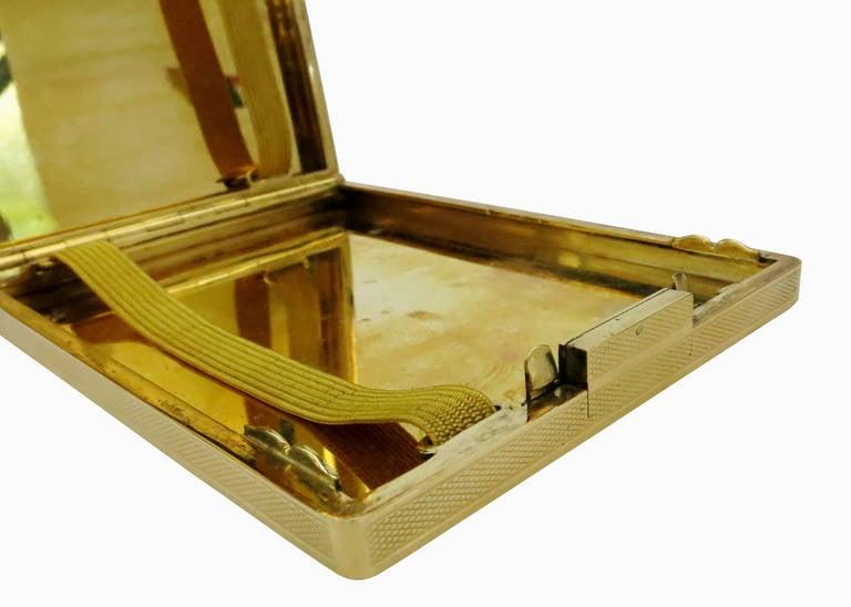 18-Carat Gold Art Deco Cigarette Case For Sale 1