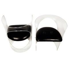 Charles Hollis Jones 1960s Style Designed Lucite Chair, pair