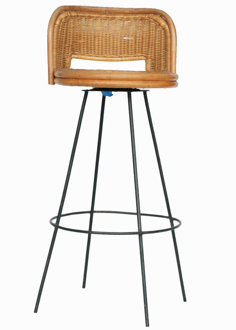Seng of Chicago Swivel Wicker and Iron Bar Stools at 1stdibs : IMG3999l from www.1stdibs.com size 768 x 1075 jpeg 48kB