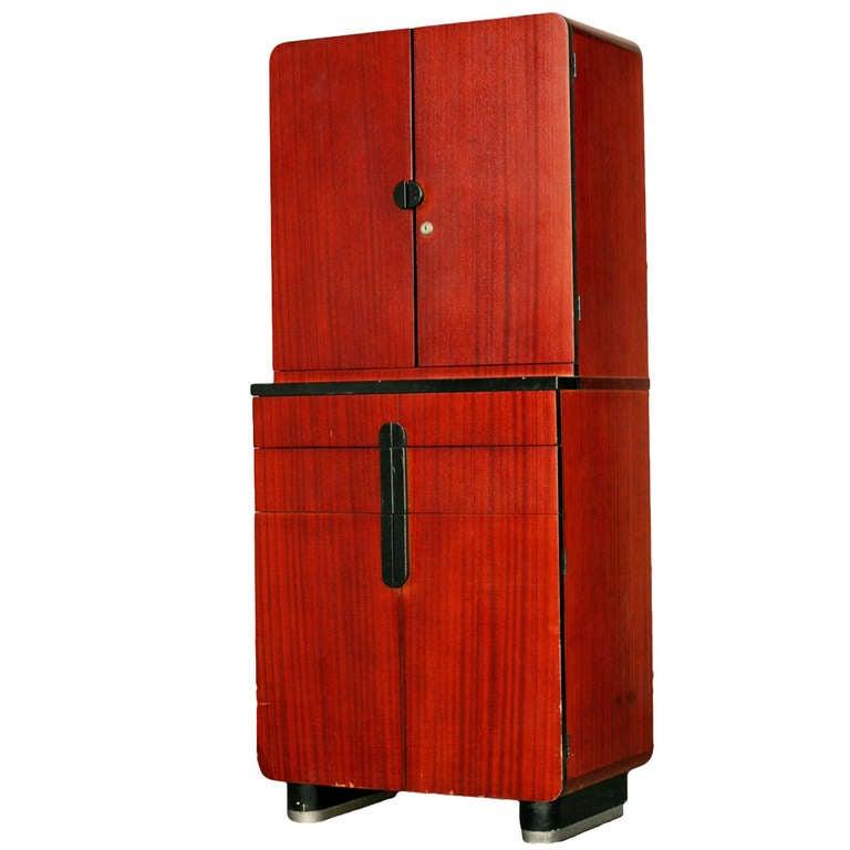 Donald Deskey Bar Cabinet For Hamilton Company At 1stdibs