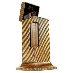"""Goldtone """"Rollalite"""" Table Lighter by Dunhill"""