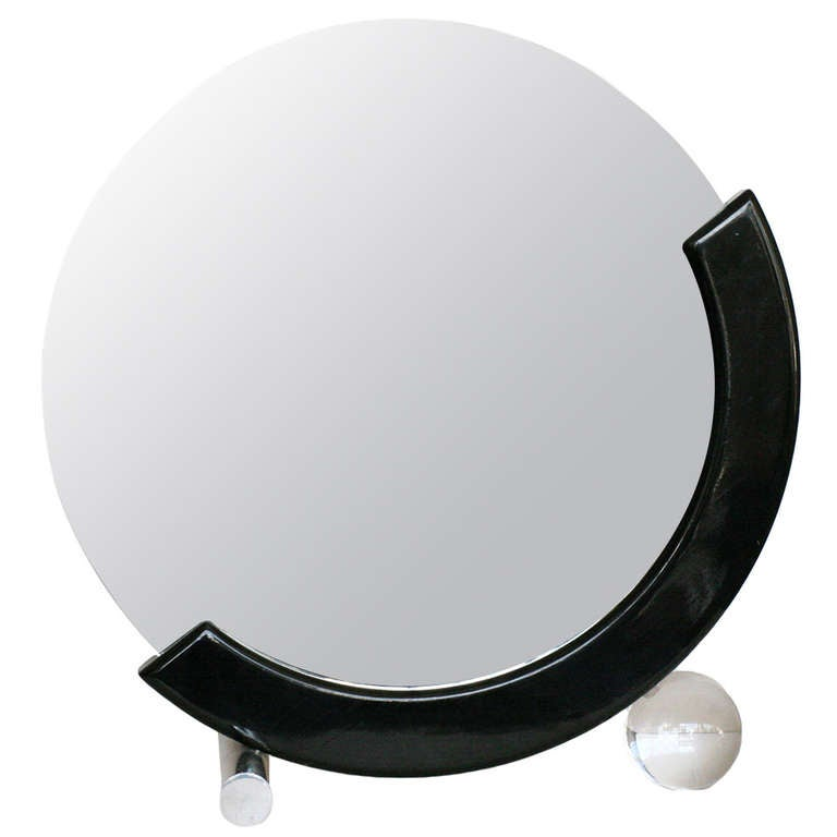 Art Deco Styled Half Moon Table Mirror At 1stdibs