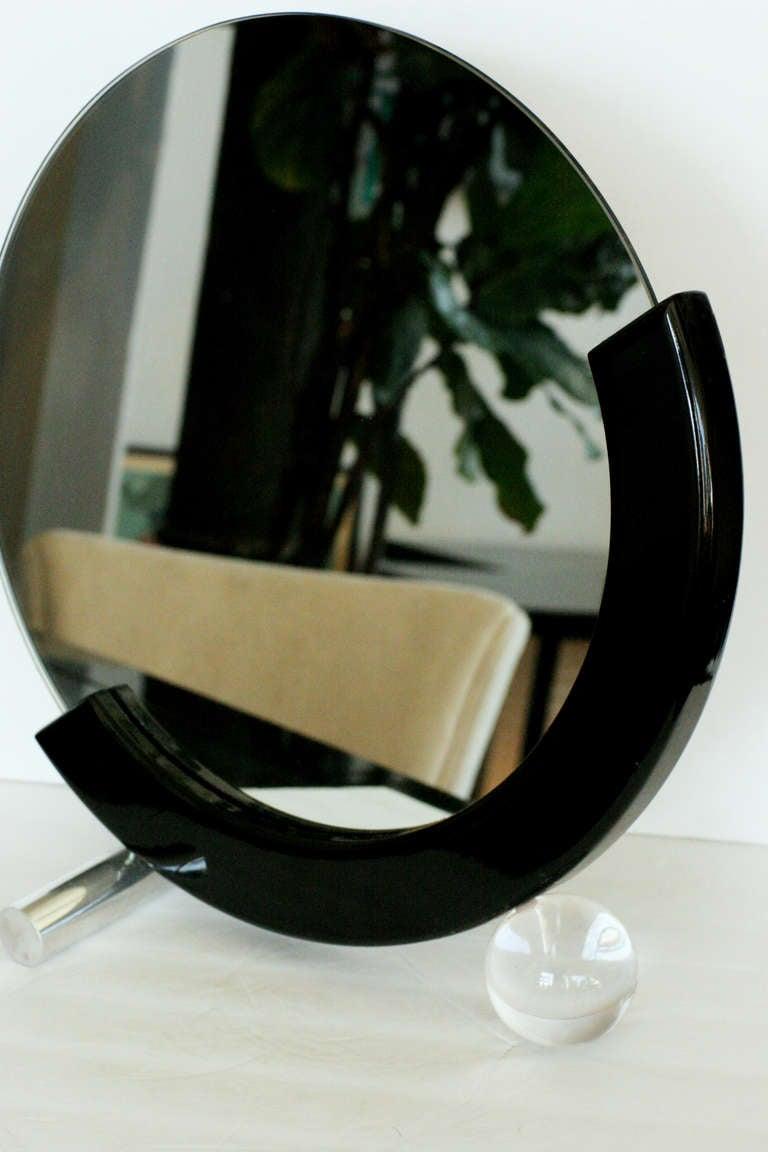 Art Deco Styled Half Moon Table Mirror At 1stdibs