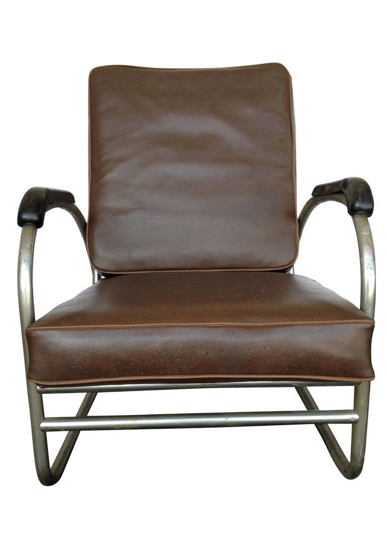 Wolfgang Hoffmann Style Chrome Club Chair By Royal Metal