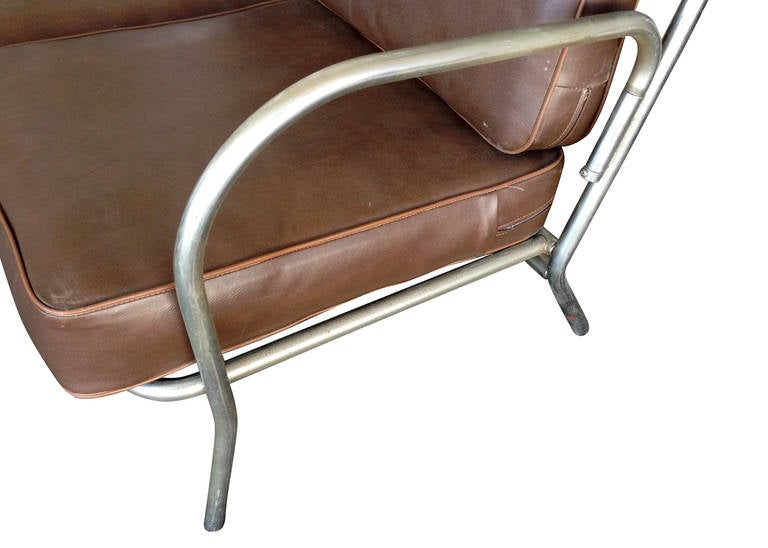 Art Deco Chrome Folding Sofa Loveseat For Sale At 1stdibs
