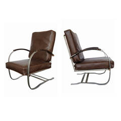 Wolfgang Hoffmann Springer Chair for Howell, Pair