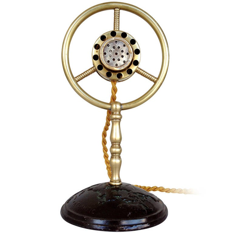 Brass Carbon Suspension Ring Microphone Ac Lighter At 1stdibs