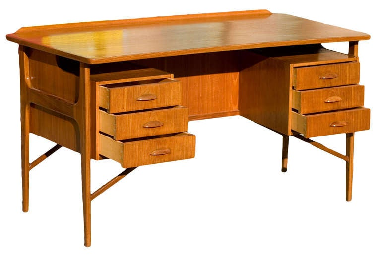 Mid-Century Modern Danish Teak Desk in the Style of Kai Kristiansen **Saturday Sale** For Sale
