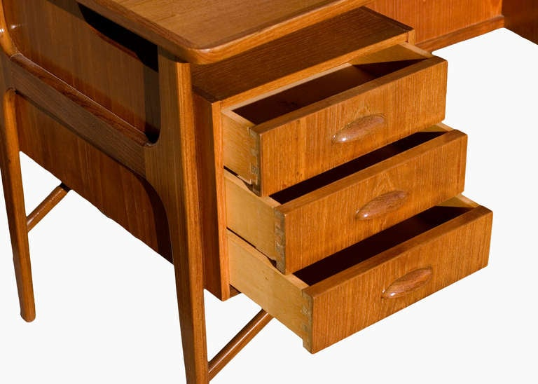 Mid-20th Century Danish Teak Desk in the Style of Kai Kristiansen **Saturday Sale** For Sale