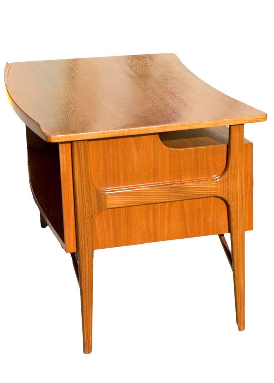 Danish Teak Desk in the Style of Kai Kristiansen For Sale 2