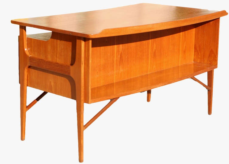 Danish Teak Desk in the Style of Kai Kristiansen **Saturday Sale** For Sale 3