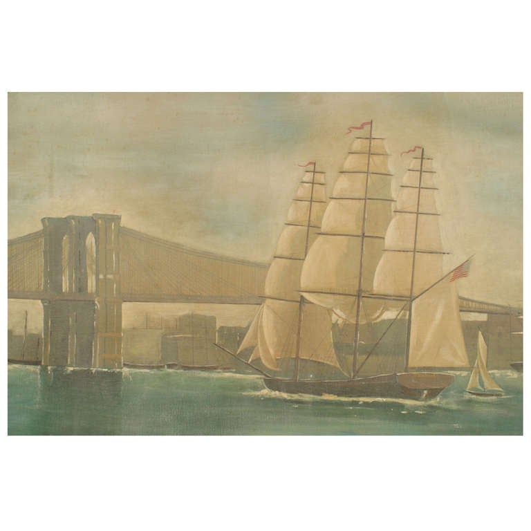 Monumental and Important 19th c. New York Harbor Panorama For Sale