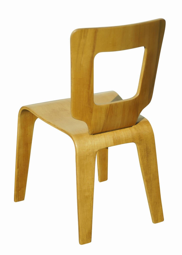 Set of Six Bent Plywood Side Chairs by Thaden-Jordan Furniture **Sature Sale** For Sale 1