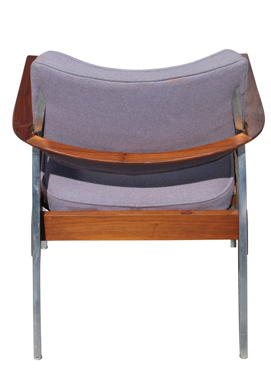 Mid Century Modern Executive Armchairs by Gunlocke Pair