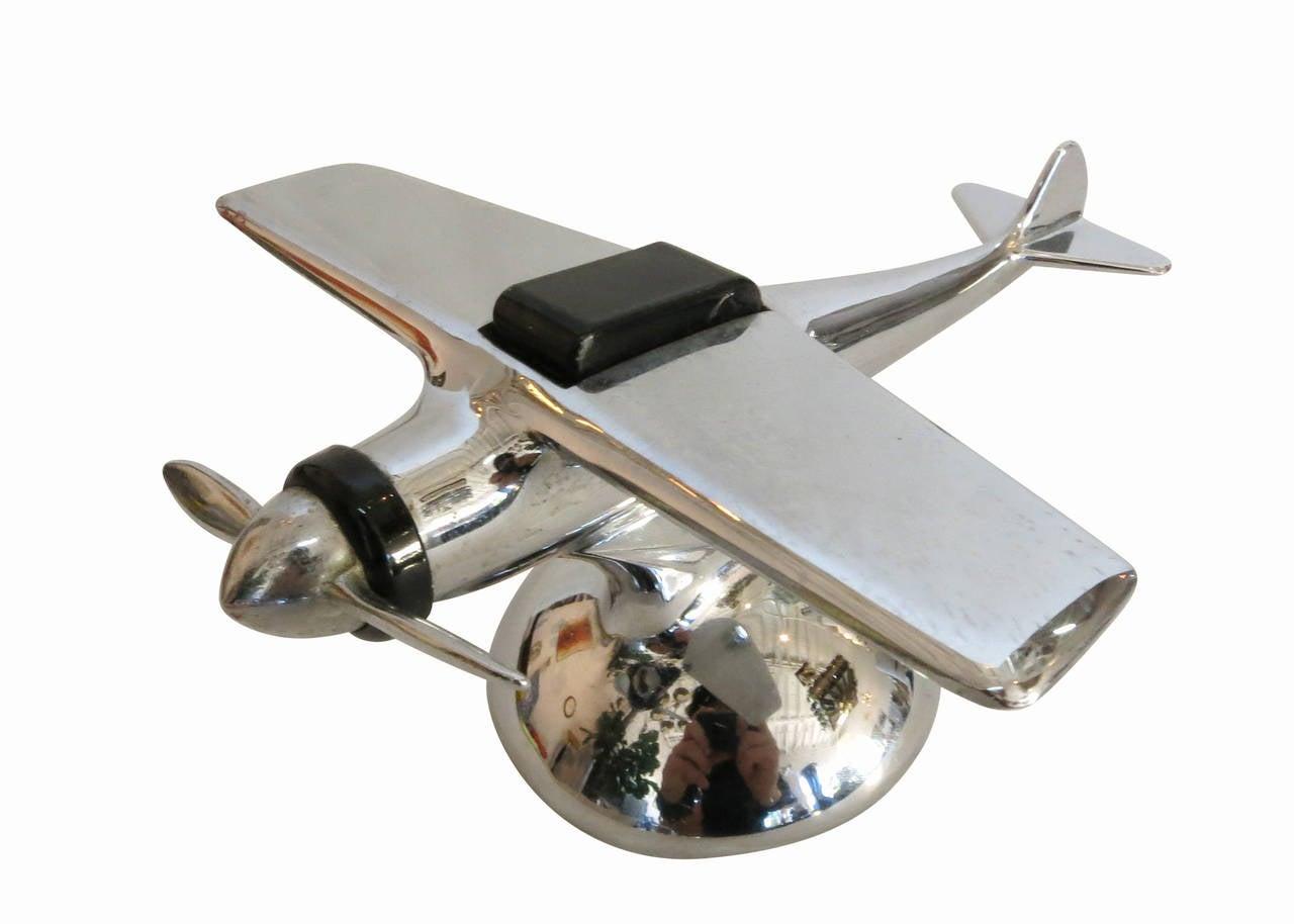 Art Deco era Chromed Steel table lighter by Hamilton called the