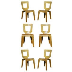 Set of Six Bent Plywood Side Chairs by Thaden-Jordan Furniture **Sature Sale**