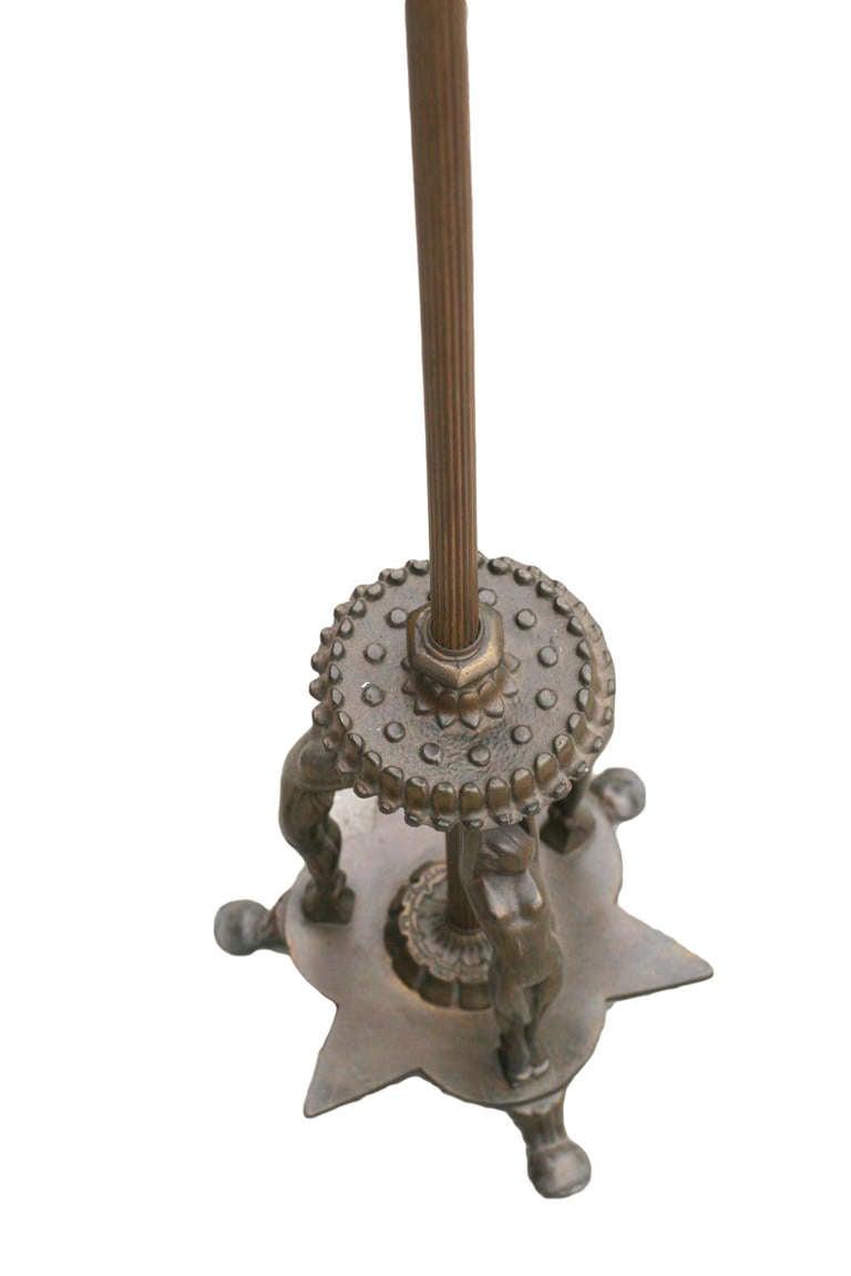 Rare Frankart Figural Floor Lamp At 1stdibs