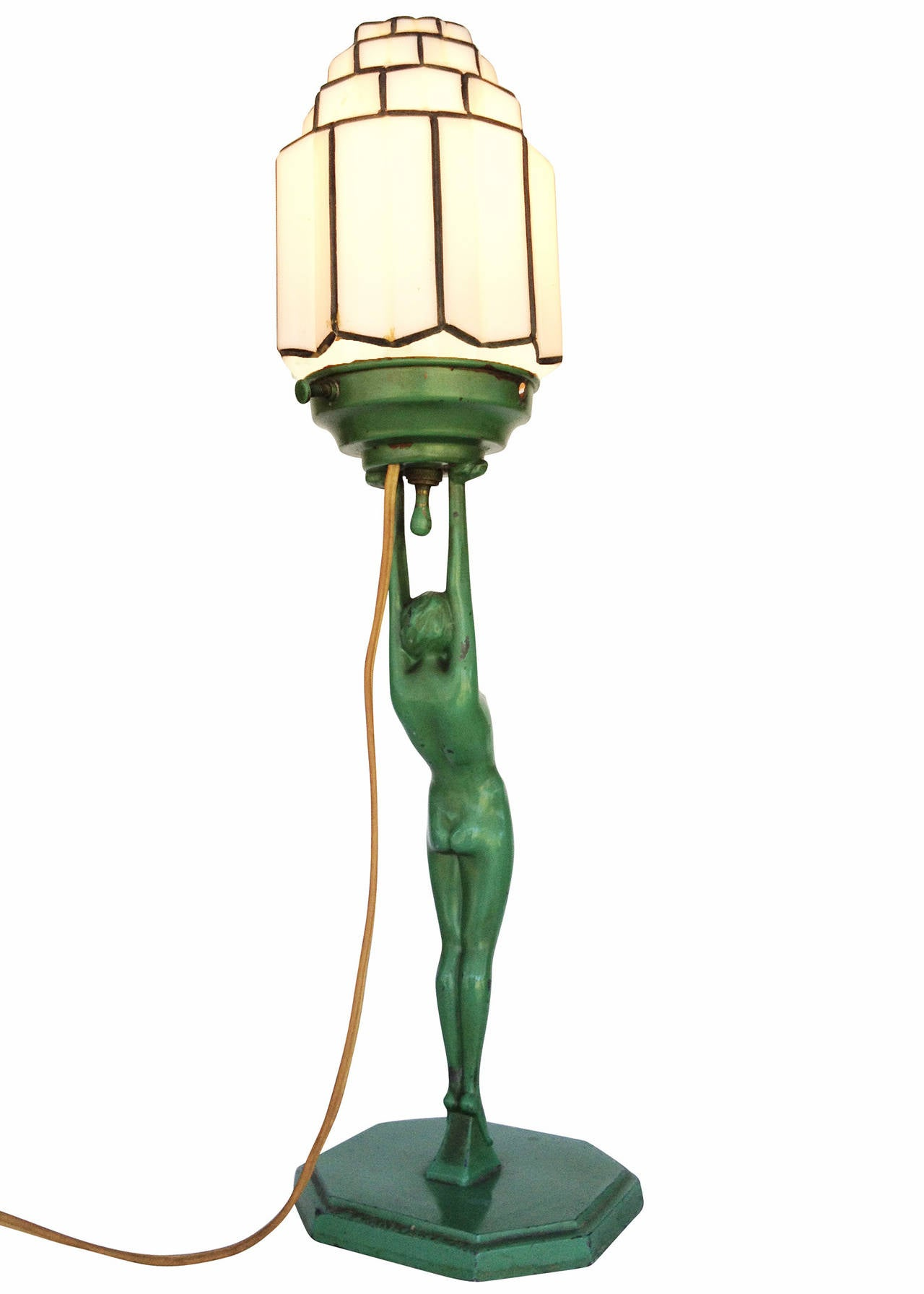 Frankart L210 Nude Sculptural Table Lamp with Stepped ...
