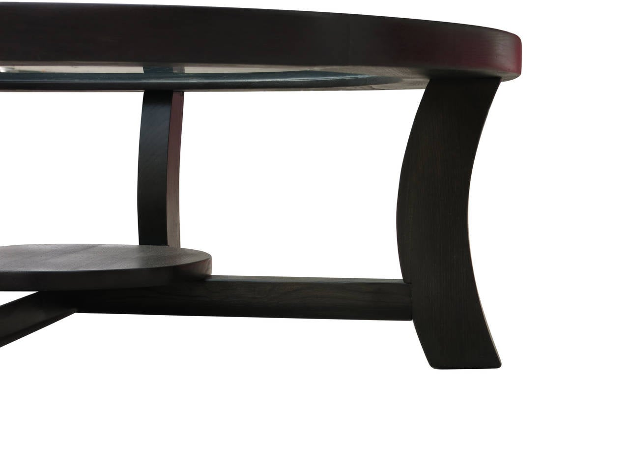 Paul Frankl Black Stepped Coffee Table For Brown Saltman For Sale At 1stdibs
