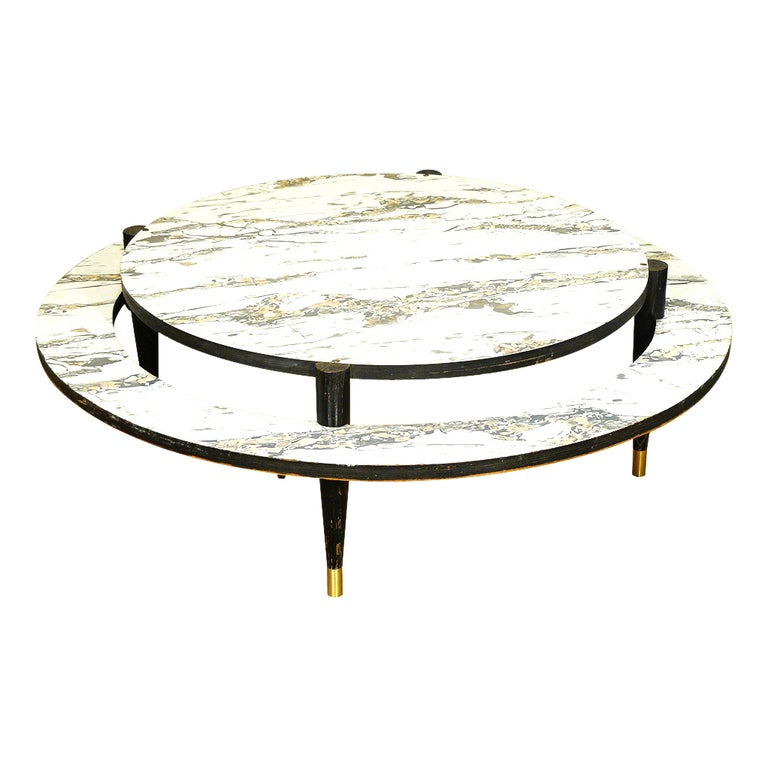 Mid-Century Modern Two-Tier Coffee Table For Sale At 1stdibs