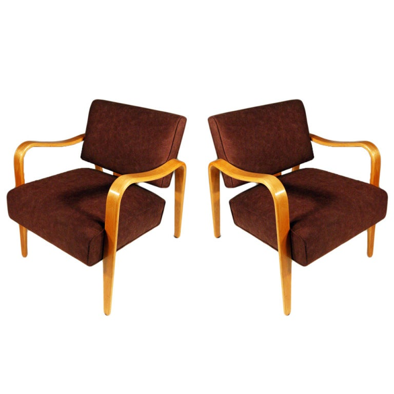 Mid Century Modern Thonet Bent Plywood Armchairs ** Saturday Sale** For Sale