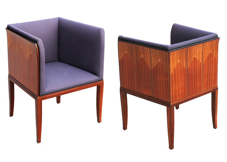Eliel Saarinen Art Deco House Arm Chairs Set Of Four At