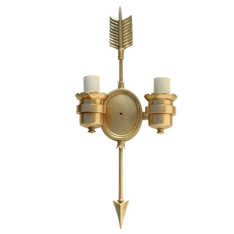 French Empire Bronze Arrow Sconce