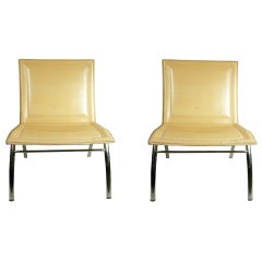 Modern Italian Occasional Chairs, Pair
