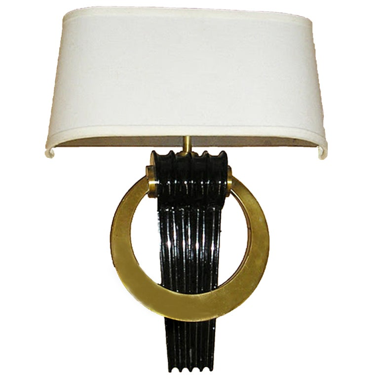 Black Lacquer Wall Sconces : 1940s Brass and Lacquer Wall Sconces Attributed to Paul Frankl, Set of Four at 1stdibs