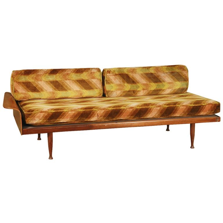 Walnut Daybed with Fan Arm by Frank & Son