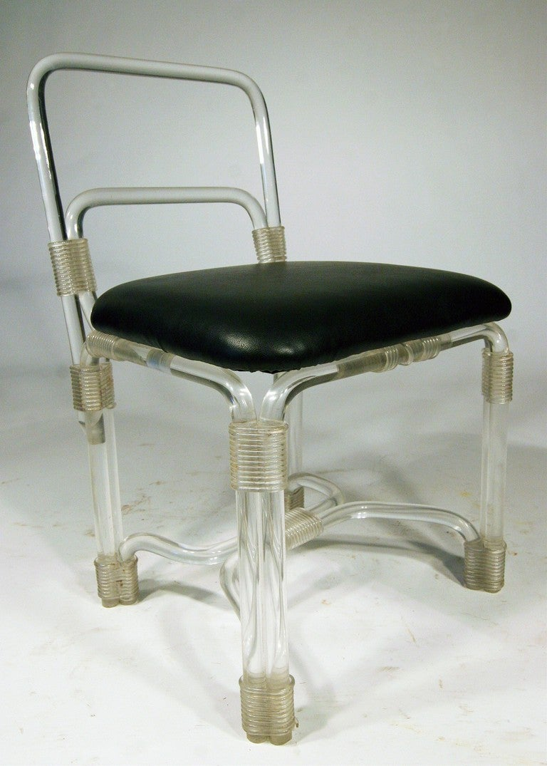 1940s Lucite Dining Table With Four Chairs By Grosfeld Saturday Sale For S