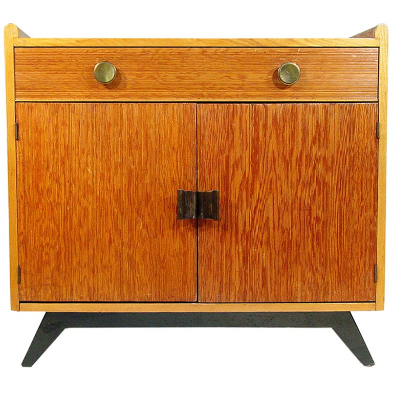 Paul Frankl Combed Wood Cabinet for Brown Saltman ** Saturday Sale** For Sale at 1stdibs
