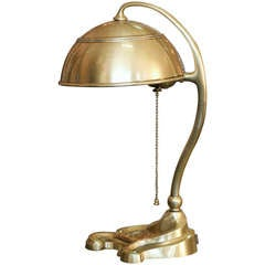 Bradley and Hubbard Brass Desk Lamp