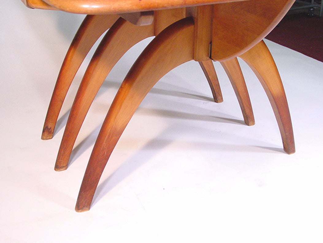 Heywood-Wakefield Butterfly Drop-Leaf Wishbone Dining Table **Saturday Sale**  6